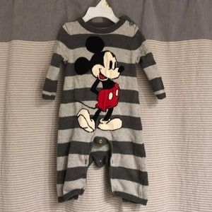 Baby Gap Mickey Mouse romper 6-12 mo